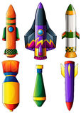 A group of colorful rockets Royalty Free Stock Photo