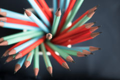 Group of colorful sharp pencil Stock Images