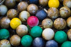 Group of colorful stones ball Royalty Free Stock Image