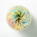 Group of colorful straw Royalty Free Stock Image