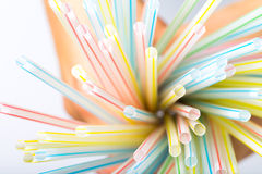 Group of colorful straw Stock Photo