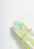 Group of colorful straw Royalty Free Stock Photos