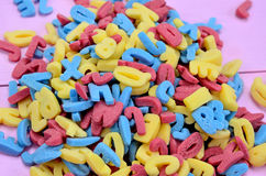 Group of colorful sugar letters Stock Image