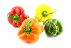 Group of colorful sweet bell pepper Stock Photos