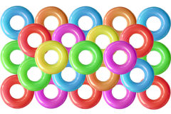 Group of colorful  swim rings. Stock Photography