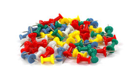 Group of Colorful Thumbtacks Stock Photography