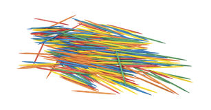Group of colorful toothpicks Royalty Free Stock Photography