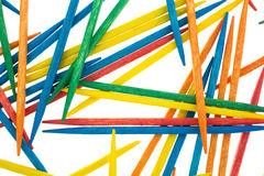 A group of colorful toothpicks Royalty Free Stock Image