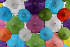 Group of colorful umbrella Stock Images