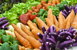 Group of colorful vegetables. Home-grown vegetable Royalty Free Stock Photography