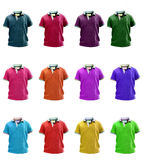 Group of colorfull Little kids polo t shirt Royalty Free Stock Photo