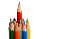 Group of coloring crayons Royalty Free Stock Photography