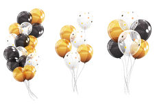Group of Colour Glossy Helium Balloons Isolated on White Backgro Royalty Free Stock Image