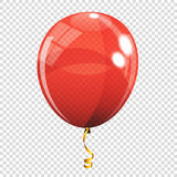 Group of Colour Glossy Helium Balloons  on Transparent B. Ackground. Vector Illustration EPS10 Stock Photo