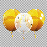 Group of Colour Glossy Helium Balloons  on Transparent B. Ackground. Vector Illustration EPS10 Stock Images