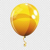 Group of Colour Glossy Helium Balloons  on Transparent B. Ackground. Vector Illustration EPS10 Stock Image
