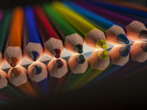 Group of colour wooden pencils Royalty Free Stock Images