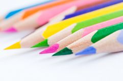 Group of coloured pencils Royalty Free Stock Photos