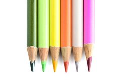 Group of coloured pencils Royalty Free Stock Photography