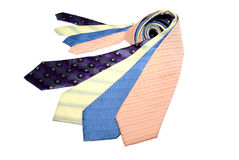 Group of coloured ties Stock Images