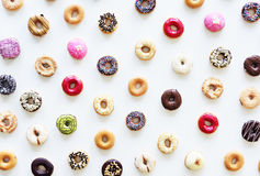 Group of Colourful Doughnut Bakery Sweet Dessert Royalty Free Stock Photos