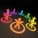 Group of Colourful People vector illustration