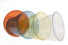 Group of colourful plastic glasses Royalty Free Stock Image