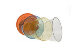 Group of colourful plastic glasses Royalty Free Stock Images
