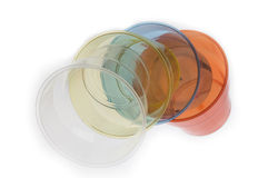 Group of colourful plastic glasses Royalty Free Stock Photography