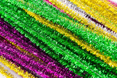 Group of colourful tinsels, christmas decoration Royalty Free Stock Images
