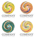 Group of Company Slogan Logos Stock Images