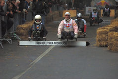 Group of competitors in race Stock Image