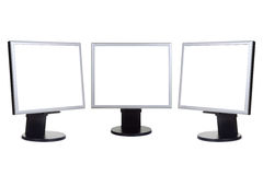 Group of computer monitors Royalty Free Stock Images