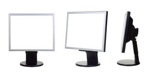 Group of computer monitors Stock Photos
