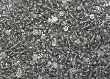 Group of computer's screws royalty free stock image