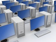 Group of computers Stock Images
