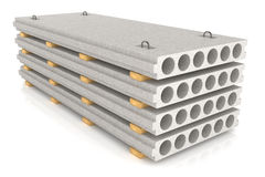 Group of concrete panels Stock Image