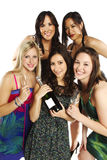 Group of confident young woman celebrating Royalty Free Stock Photo