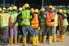 Group of construction assemble at the open space. Royalty Free Stock Image