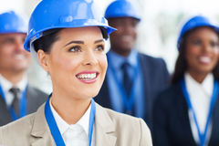 Group construction managers Stock Photo