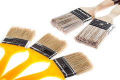 Group of construction paintbrushes Stock Image