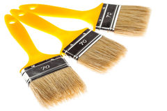 Group of construction paintbrushes Royalty Free Stock Photos