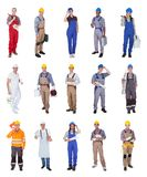 Group of construction workers Stock Photos