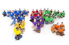 Group of Continent Map people Stock Photography