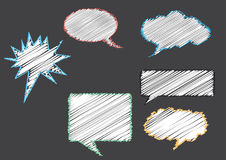 Group of conversation bubbles on gray backgrounds Stock Image