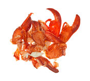 Group of cooked lobster pieces Royalty Free Stock Photo