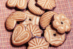 Group of  cookies close-up. Selective focus Stock Images