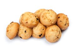 Group of cookies with raisins royalty free stock photos