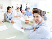 Group of Corporate People in a Meeting Royalty Free Stock Photos