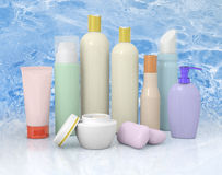 Group cosmetic bottles Royalty Free Stock Photo